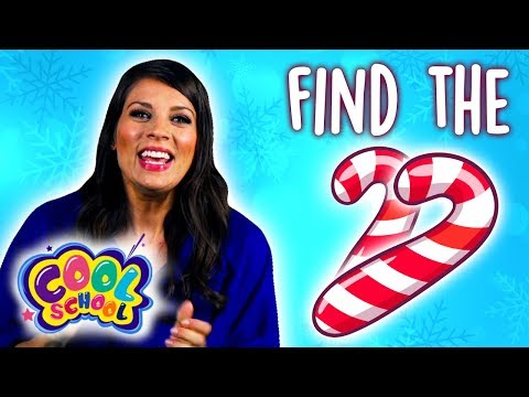 Can You Find the Candy Canes? Snow Queen Find It Game w/ Ms. Booksy! | Fun Kids Games at Cool School