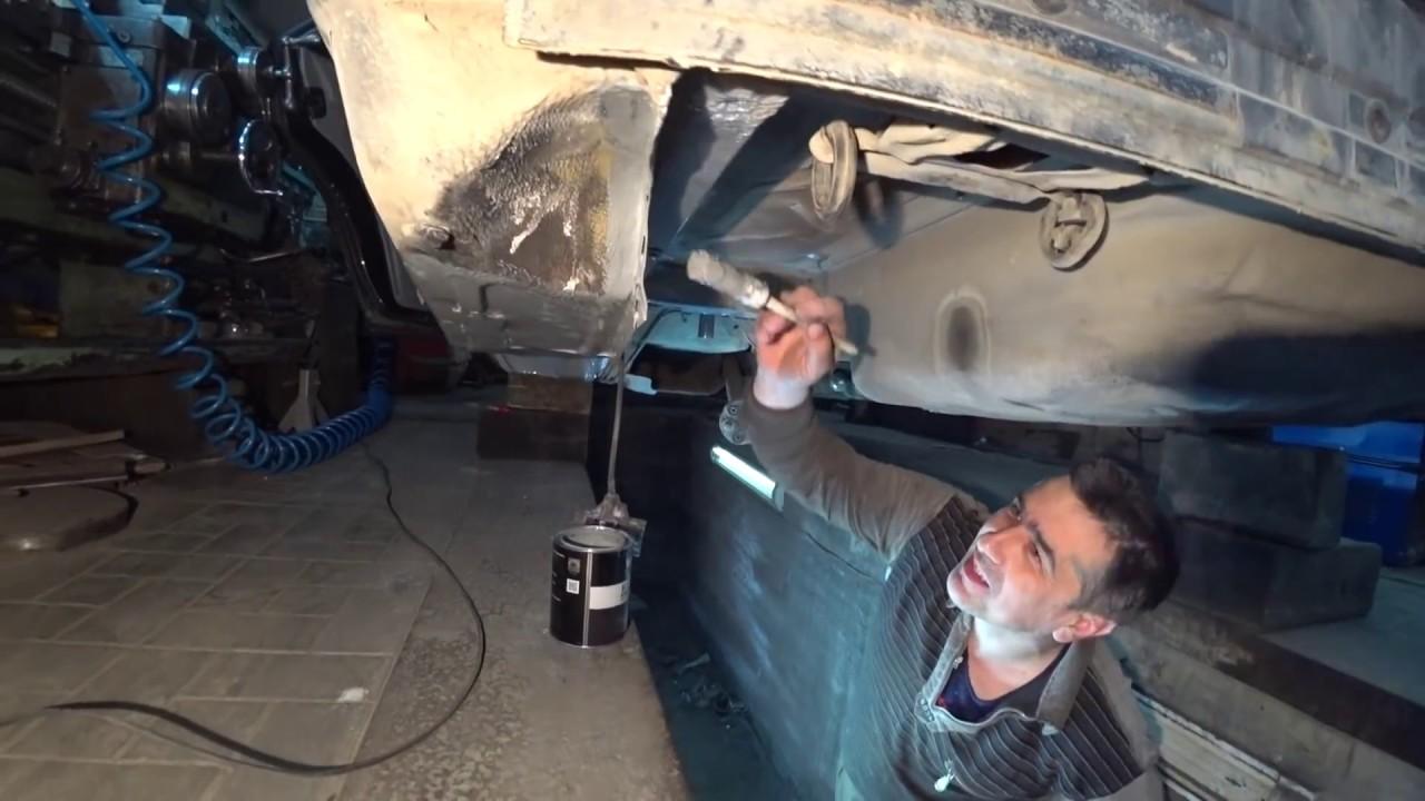 Ремонт подвески и кузова Мерседес W124 ч. №4,подкрашиваем после сварки.