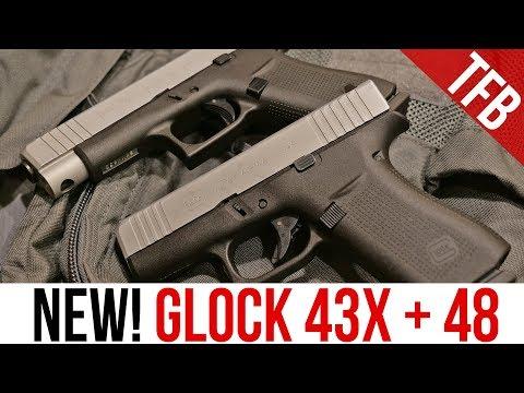 NEW Glock 43X and Glock 48 Single Stack 9mm Pistols!