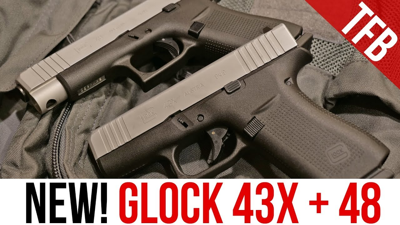 New Glock 43x And Glock 48 Single Stack 9mm Pistols Youtube