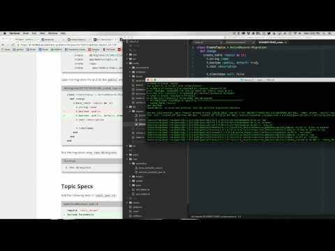 Help Forum: error running rake db:migrate