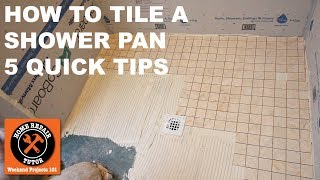 How to Tile a Shower Pan (Quick Tips)