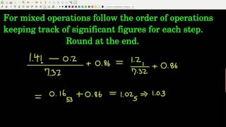 Chem143 Sig Figs in Mixed Operations