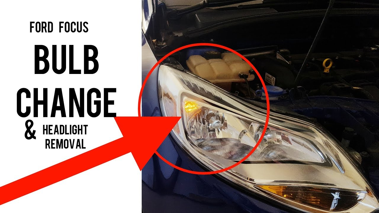 Replace Ford Focus headlight low beam Bulb and head light Removal - 2011 -  present model