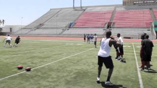 Ohio University QB Theo Scott Throwing Session #2 with WR DeSean Jackson & more