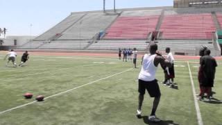 Ohio University QB Theo Scott Throwing Session #2 with WR DeSean Jackson & more