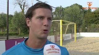 WK beach soccer: Uitkijken naar broodje pure hagelslag