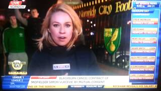 Norwich fans on transfer deadline day 31.1.13