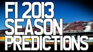 F1 2013 Season Predictions