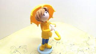Umbrella Boy/Menino do guarda-chuva - Polymer clay/Fimo