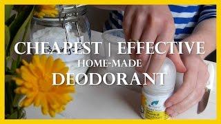 DIY: CHEAPEST DEODORANT EVER / Refill roll-on bottle