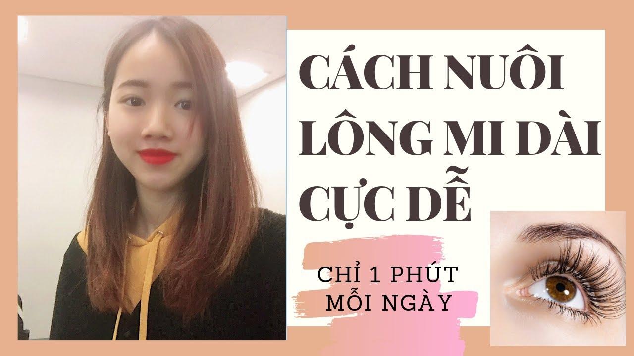 NUÔI LÔNG MI SIÊU DÀI CHỈ TRONG 1 PHÚT ♡ MEI CHAN ♡