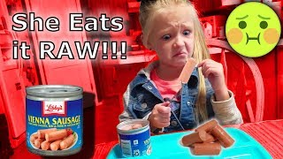 5 Year Old Tries Vienna Sausages for the First Time! Canned Meat Taste Test Challenge!