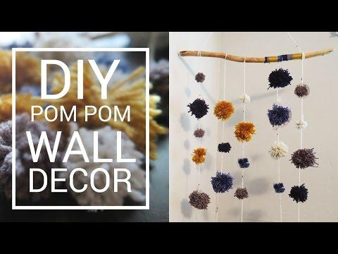 ❤️ DIY WALL HANGING DECOR  | POM POM GARLAND | DO IT YOURSELF ROOM DECOR