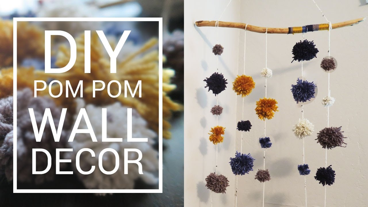 diy wall hanging decor pom pom garland do it yourself room diy wall hanging decor pom pom garland do it yourself room decor solutioingenieria Images