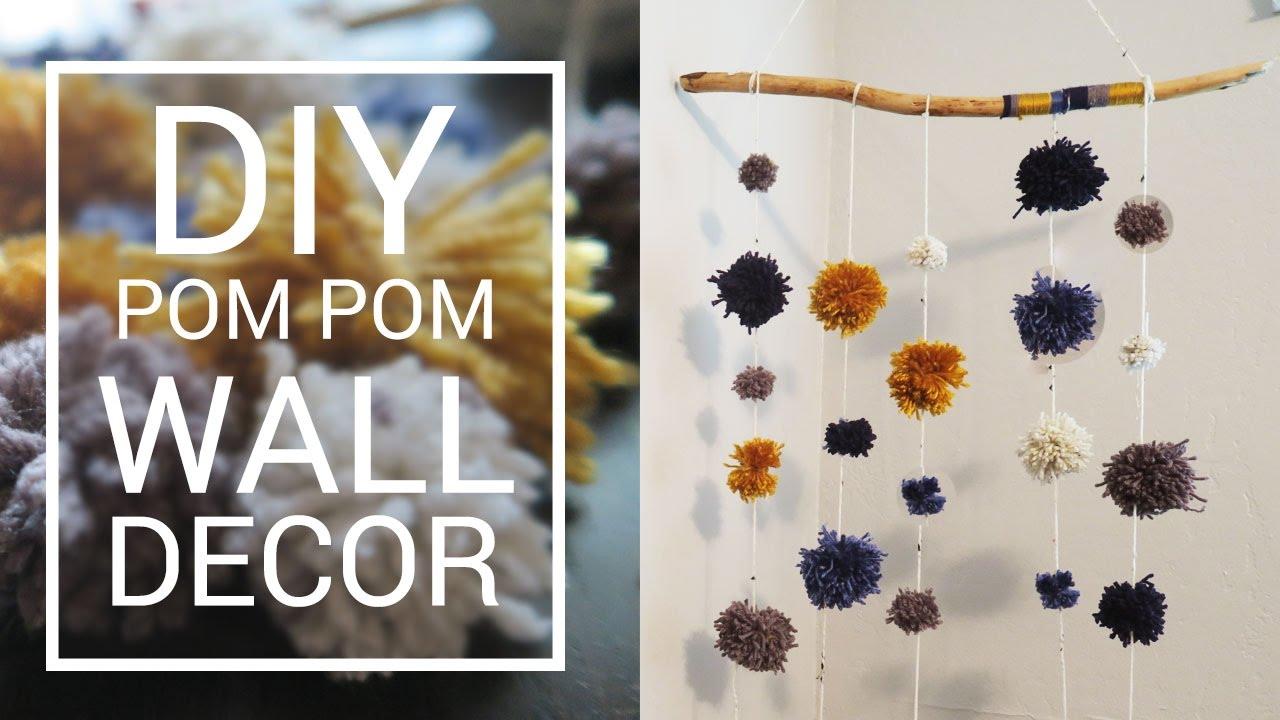 Pom Pom Wall Hanging ❤ diy wall hanging decor | pom pom garland | do it yourself