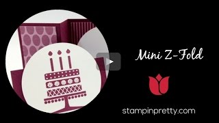 Stampin' جدا البرنامج التعليمي: كيفية إنشاء صورة مصغرة Z أضعاف بطاقة