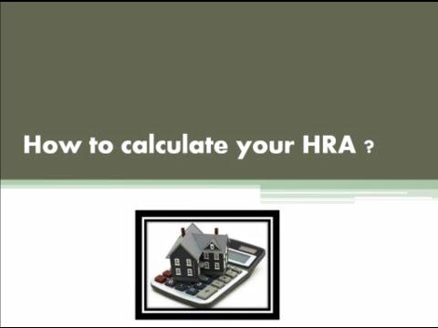 House Rent Allowance (HRA)  Part I