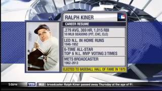 Gary Cohen joins the Michael Kay Show to remember Ralph Kiner