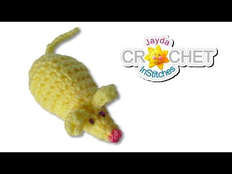 Crochet Mouse Pattern - DIY Stuffed Toy with Yarn Scraps