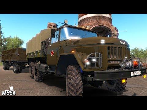 ETS2 Mods V1.35 ▶️ ZIL 130-131-133 Truck Pack + Trailer