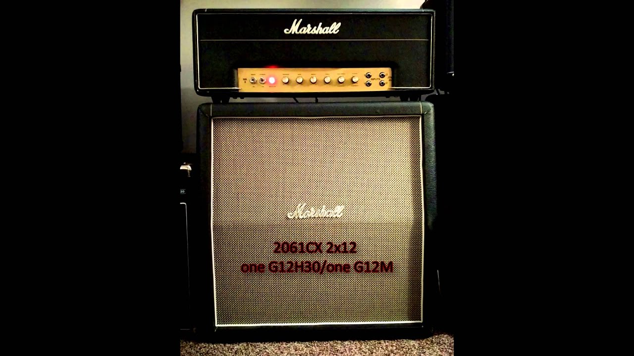 Marshall Cab Comparison - 1960TV vs. 2061CX - YouTube