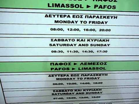 Cyprus bus time (Larnaca- Nicosia-Limasol)