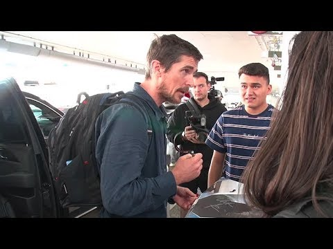 Christian Bale Surprised When Asked If He'll Play Batman Role Again Upon Arrival At LAX