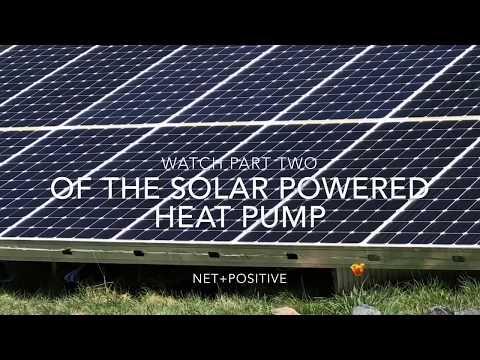 Solar powered heat pump part one