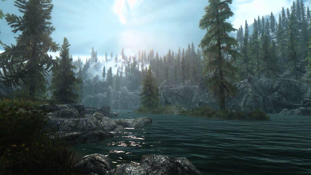 Elder Scrolls V Skyrim - Heavily Modded Scene 2 - [Live Wallpaper] - (1080p) - YouTube