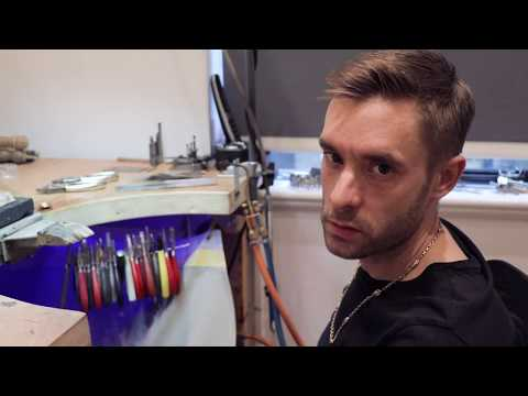 Making A Cross Necklace By Jewellery Designer, Bobby White