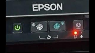 Epson L382 , L210 , L220 , L386 اصلاح سحب الورق