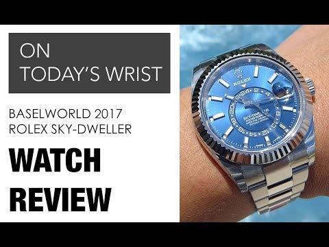 Rolex Steel Sky Dweller 326934 with Blue Dial  DavidSW