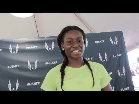 Candace Hill - Happy To Win 100m Junior Title