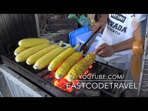 grilled corn on the cob   Jagung bakar Bali street food