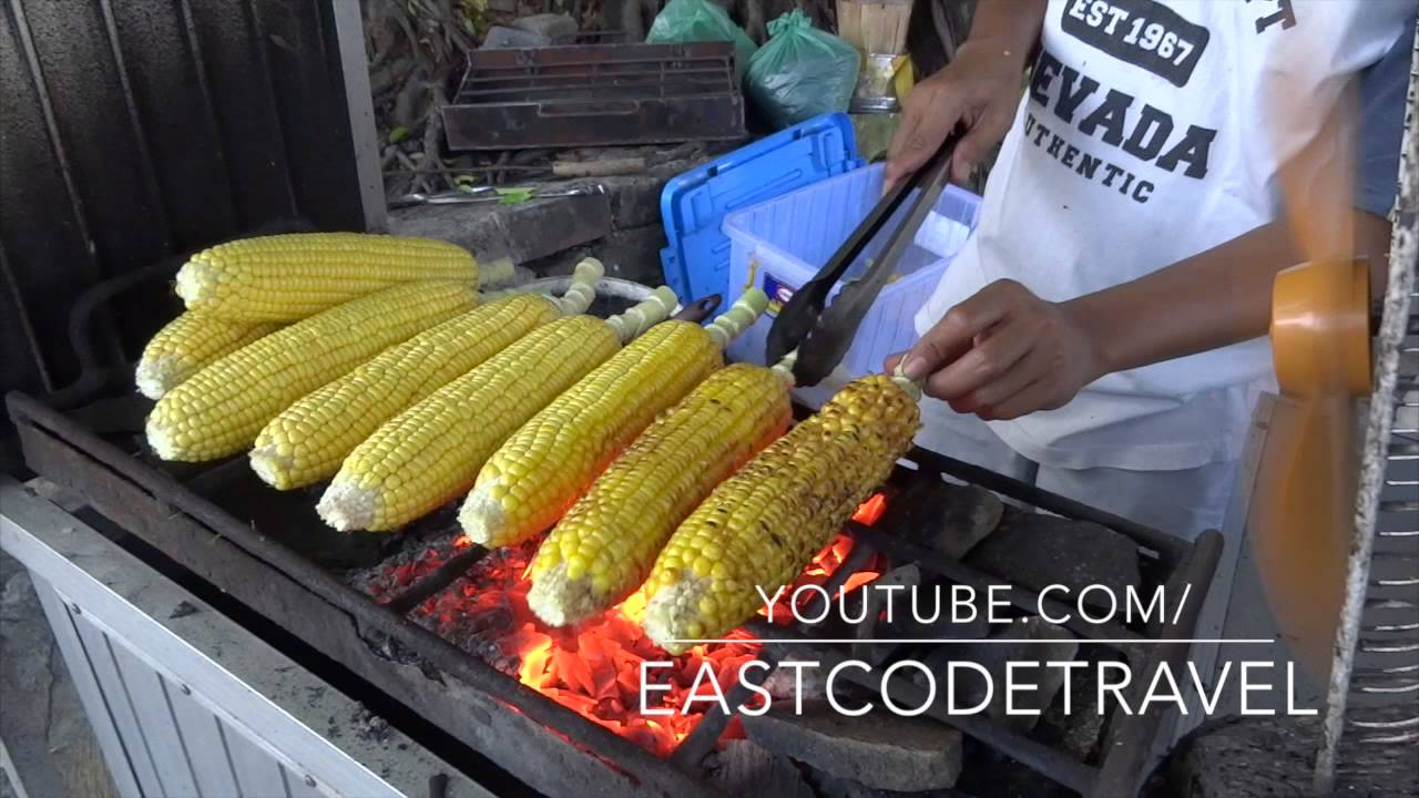 Grilled corn on the cob jagung bakar bali street food youtube ccuart Choice Image
