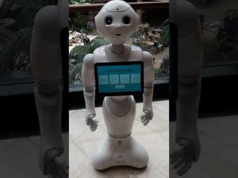 Robot takes over Fashion Island in Newport Beach California