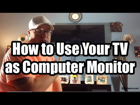 Use your TV as a Computer Monitor