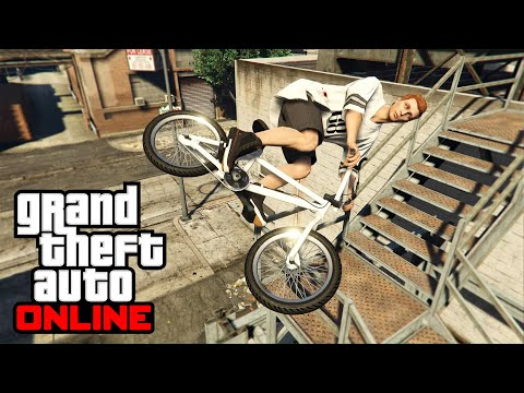 "GTA 5 - ""TOP 5 STUNT SPOTS (BMX)"" - BEGINNER LEVEL (Episode #1)"