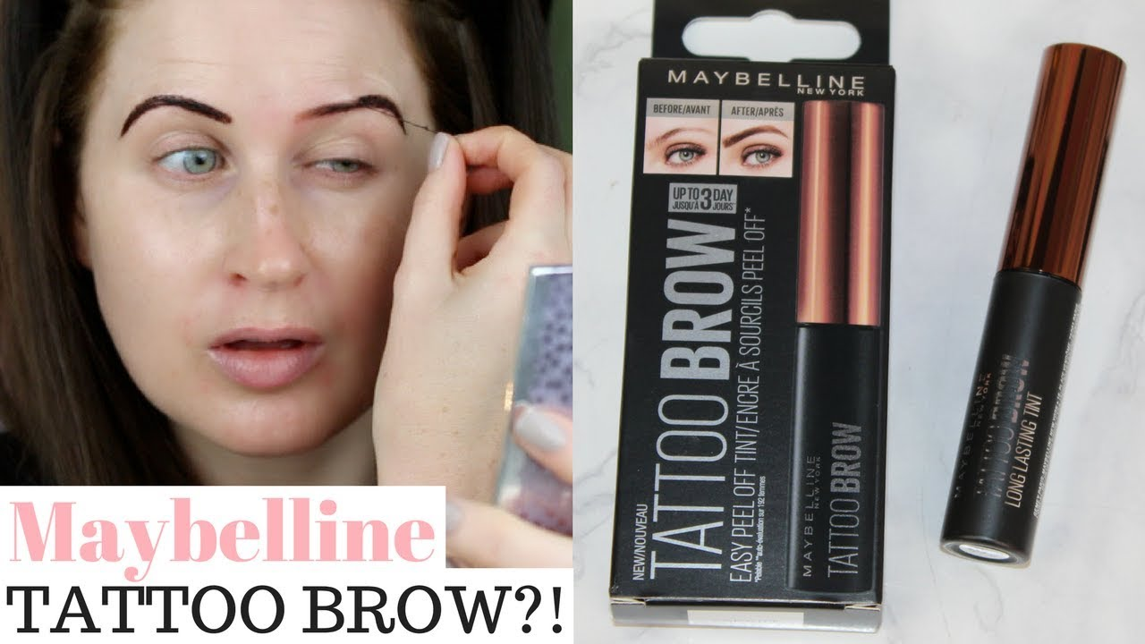 Maybelline Tattoo Brow Tint Review First Impressions Week 2 Youtube