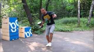 Платонов Владимир: приседания на одной ноге с весом (40 kg weighted single leg squats. BW ~ 75 kg)