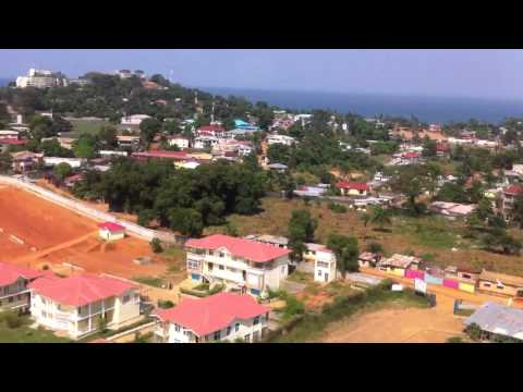 Helicopter from Freetown to Lungi, Sierra Leone
