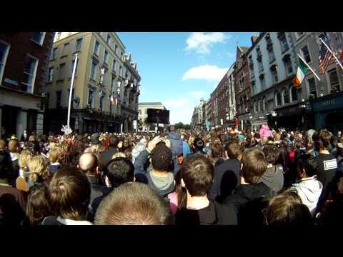 President Barack Obama's speech in College Green Dublin Ireland