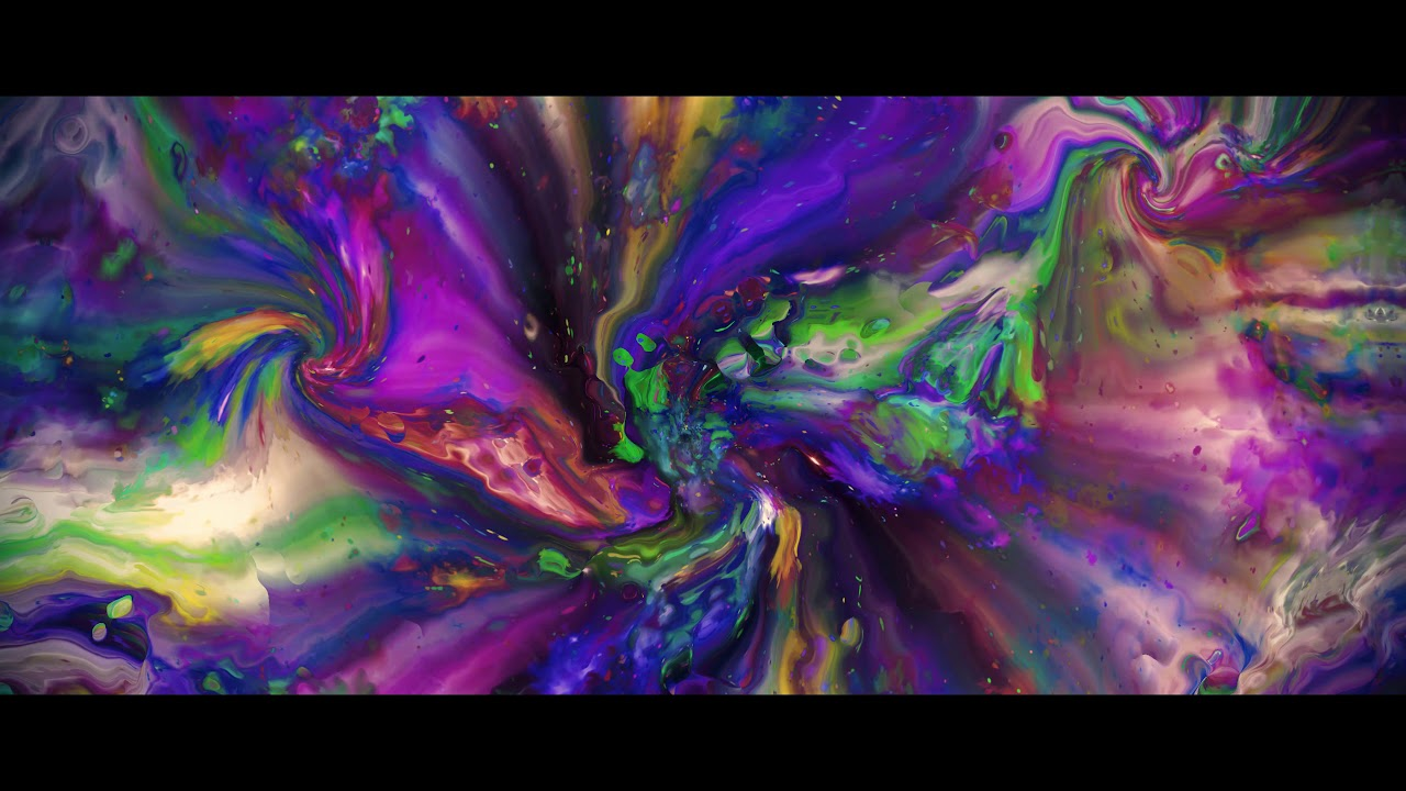 4k Digital Paint Colorful Moving Background Aavfx Relaxing Live Wallpaper