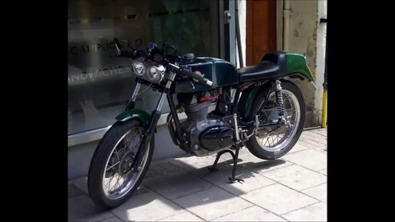 Classic Vintage Ducati Cafe Racer Motorcycle