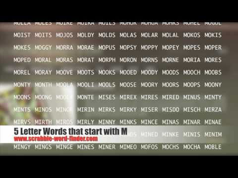 5 letter words that start with M