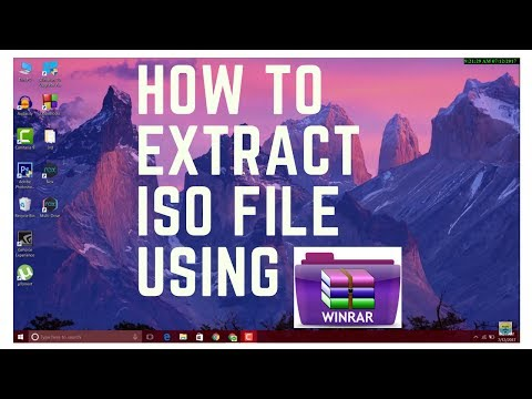 How To Extract ISO File Using WinRAR - YouTube