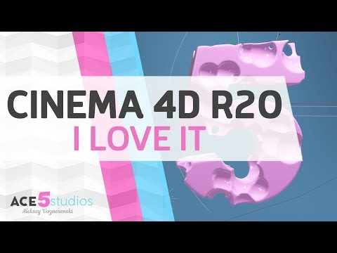 I love Cinema4D R20 - the small stuff