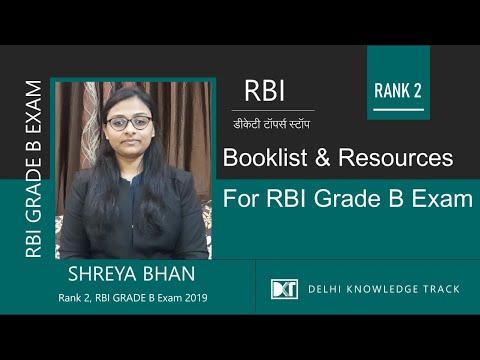 RBI Grade B Exam | Booklist & Resources To Crack RBI Grade B Exam | By Shreya Bhan, Rank 2 RBI Exam