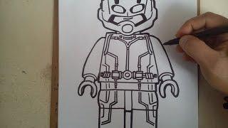 """como dibujar a ant-man """"lego"""" / HOW TO DRAW A ANT-MAN """"LEGO"""""""